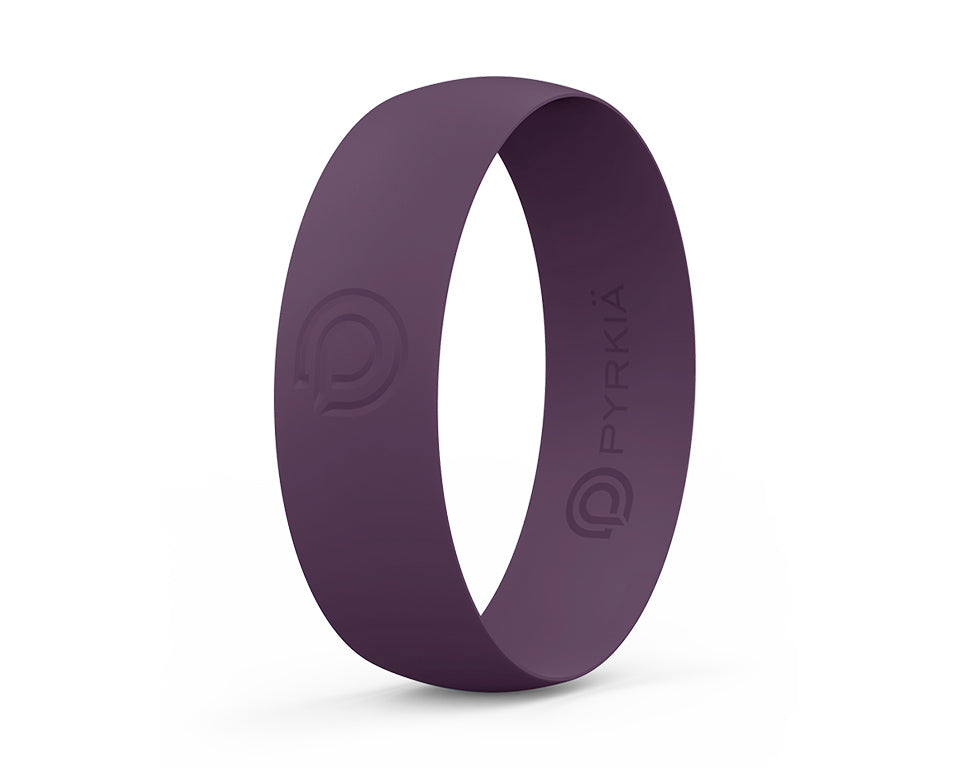 PLUM SILICONE RING