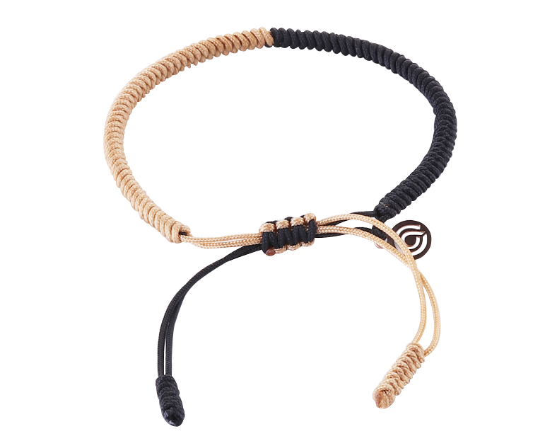 LUCKY ROPE BRACELET - GOLD & BLACK
