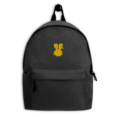 Unlucky Duckling Embroidered Backpack