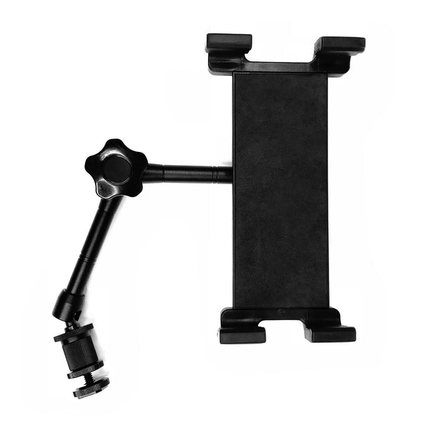 "Socialite Large Universal iPad Pro and XL Tablet Holder With Rotating 360 degree Articulating Arm - For Our 18"" ring light kits"