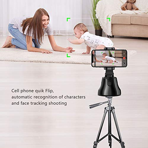 Auto Face Tracking Phone Holder – 360° Hands-Free Photos or Videos – Works w/ iPhone or Android – Face, Body & Action Tracking