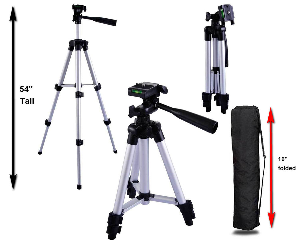 SOCIALITE Tripod Tablet Kit - Incl 2 Mini Selfie Lights, Tripod Stand, iPad/iPhone Mount, & Remote