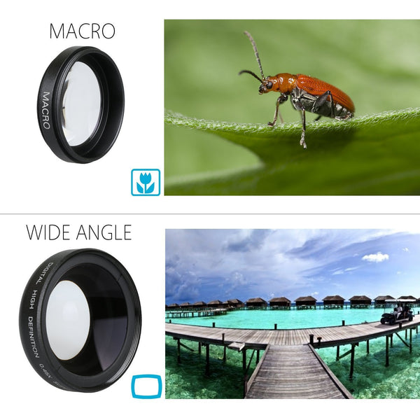 SOCIALITE - Super Wide Photo & Video Lens Kit for Smartphone/iPhone 0.45x Super Wide & 12.5x Macro
