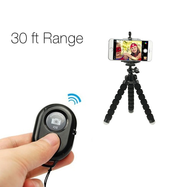 SOCIALITE - Bluetooth Camera Shutter Remote Control W/ Mounting Clip for Smartphones & iPads -