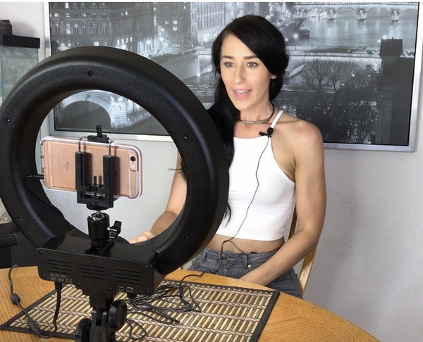 SOCIALITE 12 Inch LED Ring Light Kit  - Incl Ring Light, 6 foot Stand, DSLR/iPhone Mount, & Remote