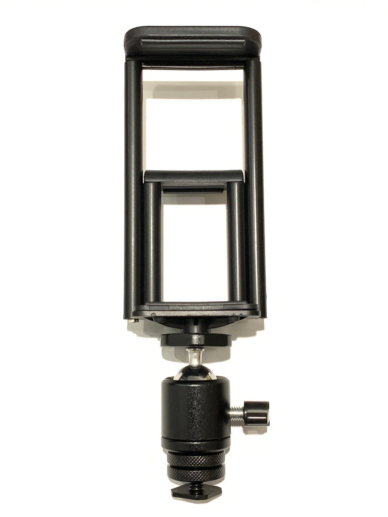 "Replacement 2 in 1 Bracket Assembly- Holds Smartphones, iPads / Tablets  and DSLR Cameras - For Our 18"" ring light kits"