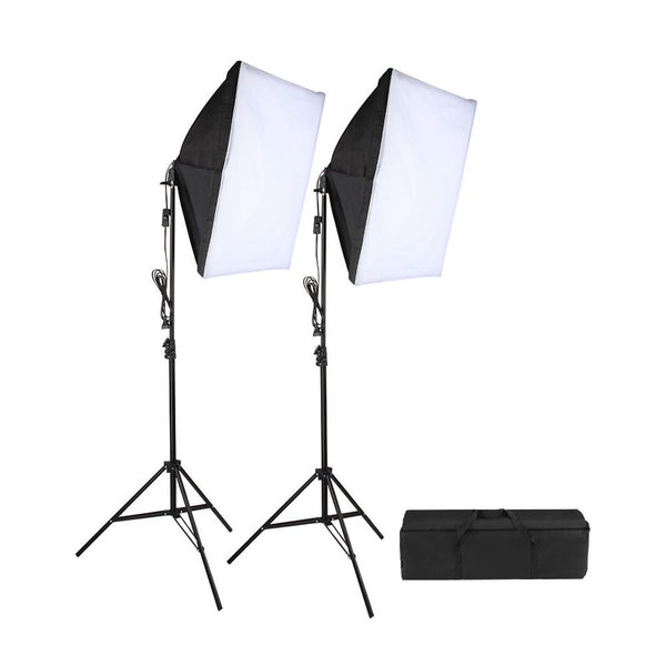 2 PCS Softbox Lighting Kit With Light Stands and Carry Bag For Video & Photography