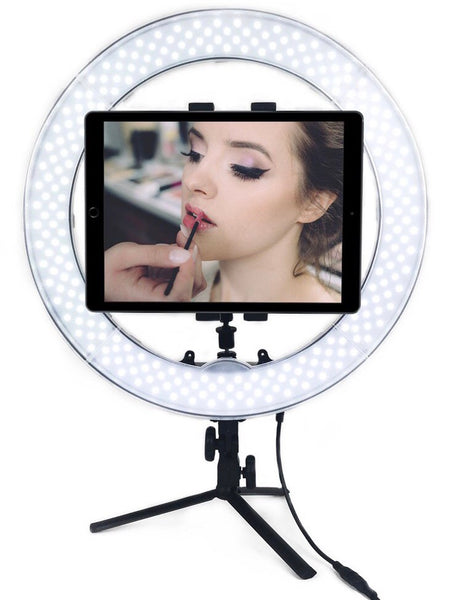"Socialite Tabletop Tripod Light Stand for 18"" and 12"" Ring Lights"