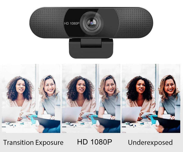 1080P Webcam W/ Microphone, Web Camera, Perfect for for Live Video Conference Calls, Zoom & Skype Meetings