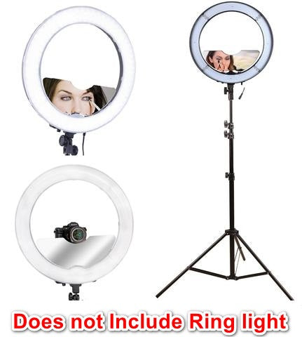 "Half Moon Vanity Mirror Attachment For 18"" Ring Light"