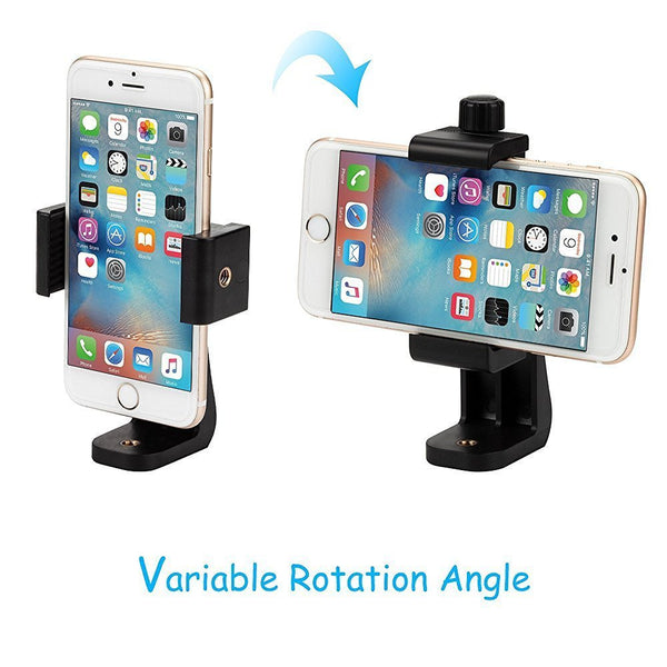Socialite Universal Rotating Smartphone Assembly Mount for Your Ring Light, Tripod or Selfie Stick