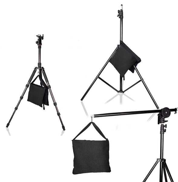 Heavy Duty Sandbags  (4 Pack) The Perfect Saddlebag Weights for Securing Light Stands and Tripods During Photo Shoots - Indoor & Outdoor Use