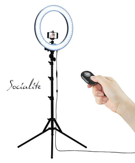 SOCIALITE - 18 Inch LED Photo / Video Ring Light Kit - For Smartphones & Digital Cameras