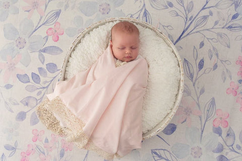 Heirloom Swaddle- Peonie Pink