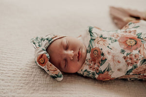 Florence | Snuggle Swaddle & Topknot Set