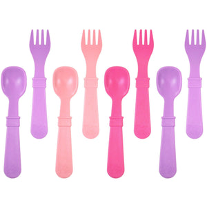 Re-play Utensils 8 Pack - Pink/Purple