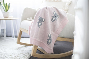 Organic Cotton Baby Blanket - Koala - Tutu Irresistible Boutique