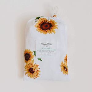 Sunflower | Bassinet Change Pad Cover - Tutu Irresistible Boutique