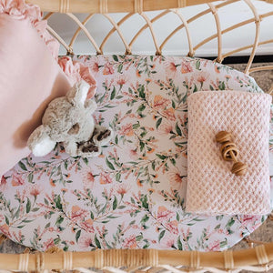 Bassinet & Change Pad Cover | Wattle