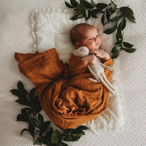 Organic Muslin Wrap - Bronze - Tutu Irresistible Boutique