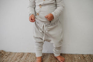Fawn Stripe Harem Pants - Tutu Irresistible Boutique