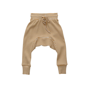 Mustard Stripe Harem Pants - Tutu Irresistible Boutique