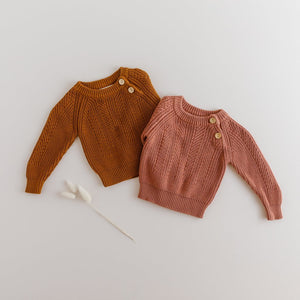 Terracotta Knitted Sweater - Tutu Irresistible Boutique