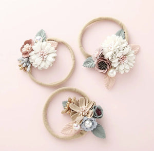 Luxe Petite Floral Headband - Tutu Irresistible Boutique