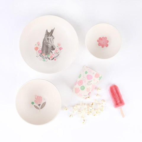 Unicorn Supper - 4 Piece Bamboo Dinner Set