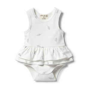 Wilson & Frenchy Organic Ruffle Bodysuit - Float Away