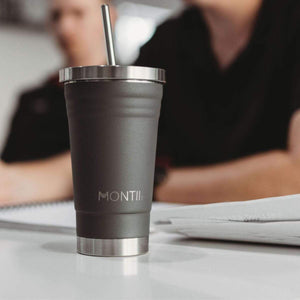 MontiiCo Original Smoothie Cup - Grey - Tutu Irresistible Boutique