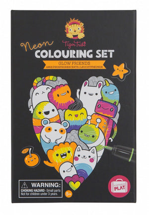 Neon Colouring In Set - Glow Friends