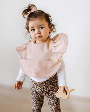 Baby Snuggle Waterproof Bib - Nude - Tutu Irresistible Boutique