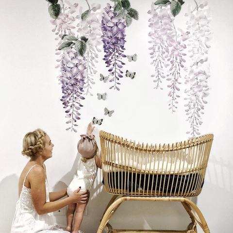 Wisteria Wall Decals - Half Pack