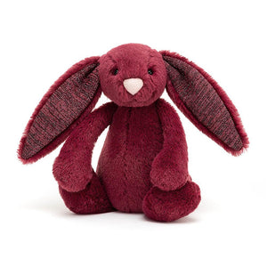Jellycat Bashful Bunny - Sparkly Cassis (Small)