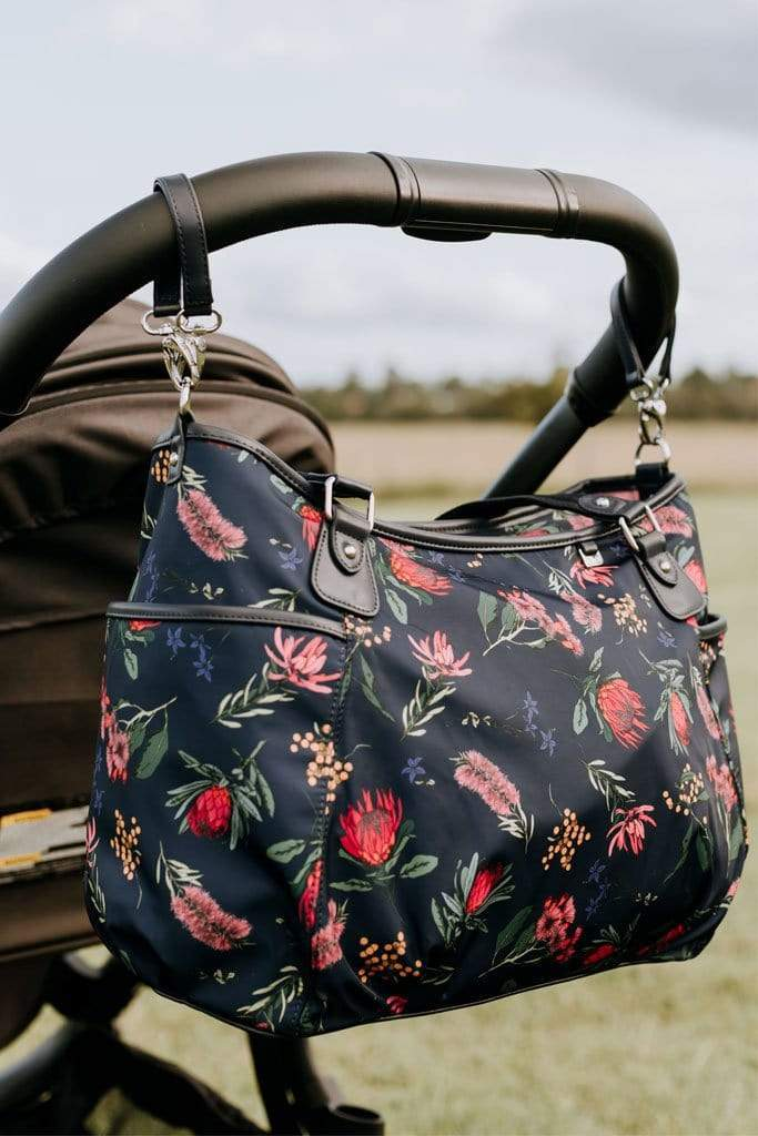Tote Nappy Bag - Navy Botanical Floral