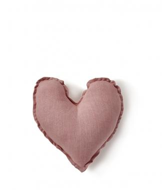 Heart Cushion - Blush Pink 25cms