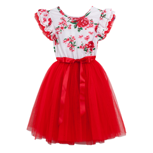Ruby Floral Tutu - Tutu Irresistible Boutique