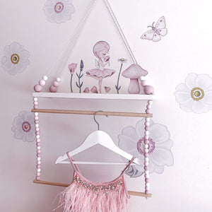 Crysta The Fairy Fabric Wall Decals - Tutu Irresistible Boutique