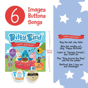 Ditty Bird Books - Happy Birthday - Tutu Irresistible Boutique