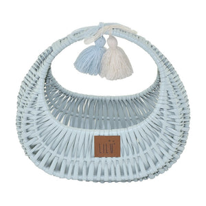 Wicker Bag - Mint - Tutu Irresistible Boutique