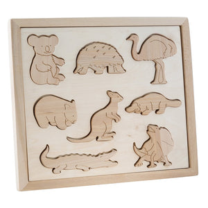 Wooden Sorting Puzzle - Australian Animals