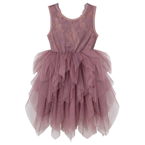 Sophie Lace Tutu Dress- Truffle - Tutu Irresistible Boutique