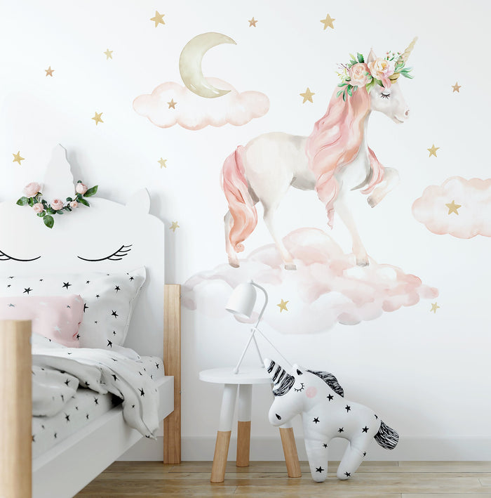 Dreaming Unicorn Wall Decal
