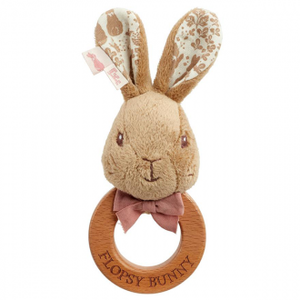 Flopsy Bunny Wooden Ring Rattle Signature Collection - Tutu Irresistible Boutique