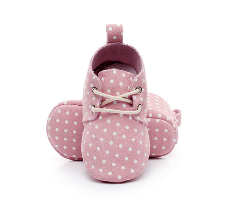 Baby Oxford Walkers - Pink Dots - Tutu Irresistible Boutique
