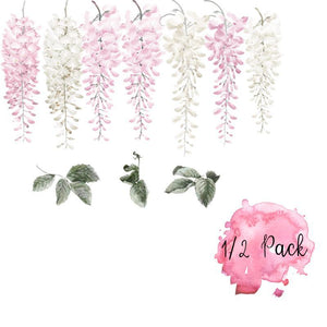 Pink Wisteria Wall Decals - Half Pack - Tutu Irresistible Boutique