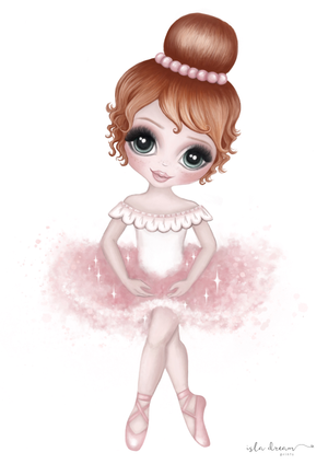 Ruby The Ballerina Print - Pink - Tutu Irresistible Boutique