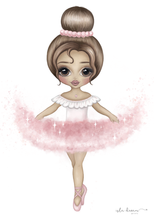 Ariana The Ballerina Print - Pink - Tutu Irresistible Boutique