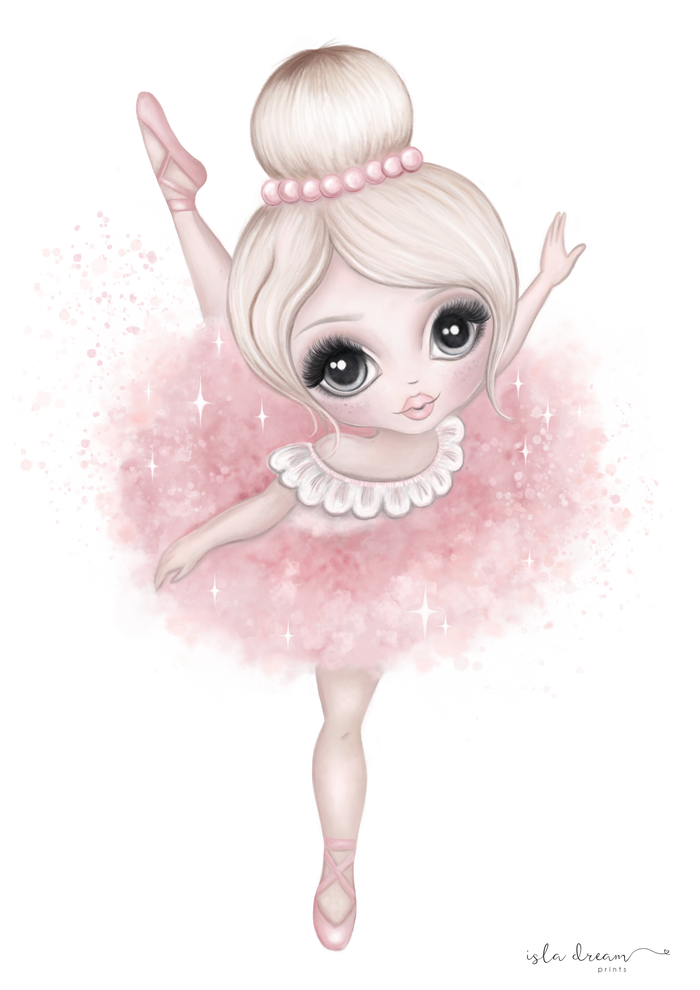 Bella The Ballerina Print - Pink